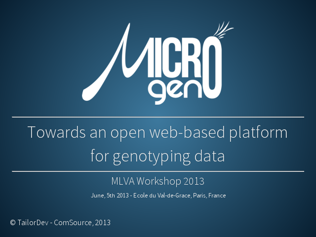 MicroGeno-MLVA-Workshop-2013
